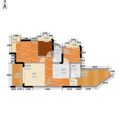 金桂花园3室0厅1卫1厨95.00㎡户型图