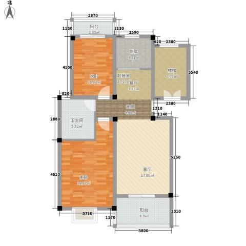 绿洲花园2室0厅1卫1厨93.00㎡户型图
