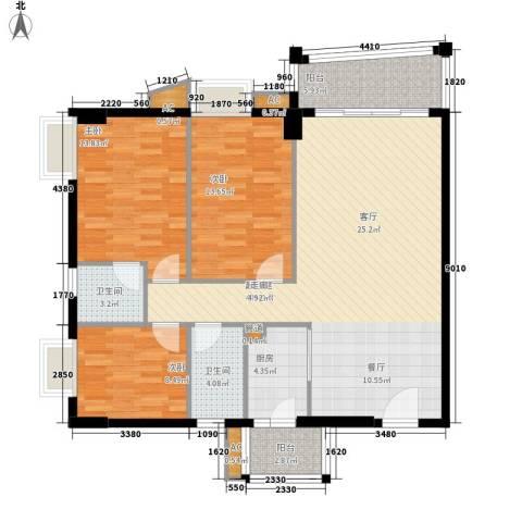 明都华庭3室0厅2卫1厨111.00㎡户型图