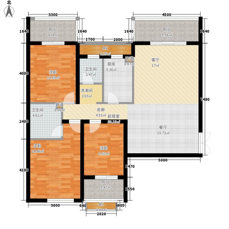 滨东花园151.00㎡滨东花园3室户型3室