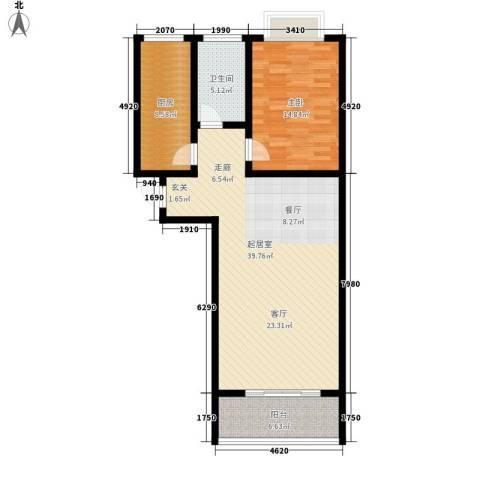 御墅林峰1室0厅1卫1厨86.00㎡户型图