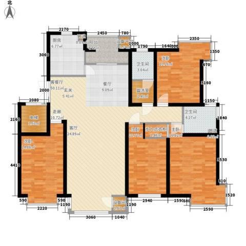 左岸慧晶4室1厅2卫1厨169.00㎡户型图