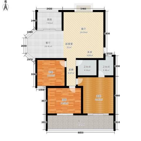 御墅林峰3室0厅2卫1厨147.00㎡户型图