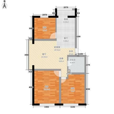 天鸿嘉园3室0厅1卫0厨95.00㎡户型图