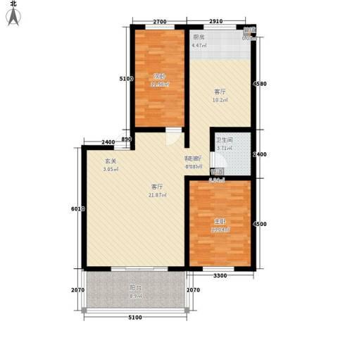 水岸康居2室1厅1卫0厨103.00㎡户型图