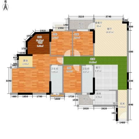 蓝色海岸4室1厅2卫1厨135.00㎡户型图