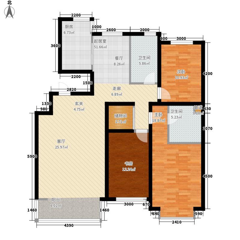 巨海城156.00㎡巨海城户型图5J户型3室2厅2卫1厨户型3室2厅2卫1厨