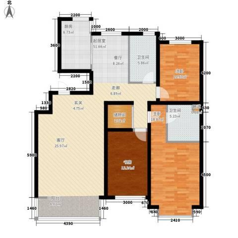 巨海城3室0厅2卫1厨156.00㎡户型图