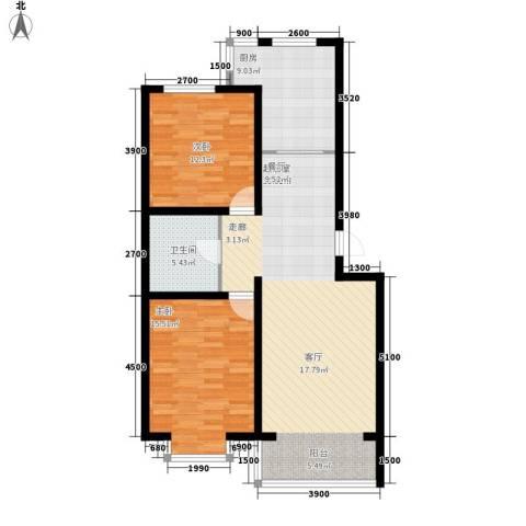 巨海城2室0厅1卫1厨99.00㎡户型图