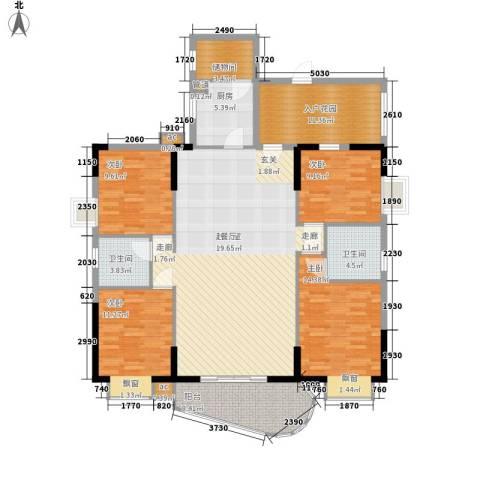 阳光澳园4室0厅2卫1厨141.00㎡户型图