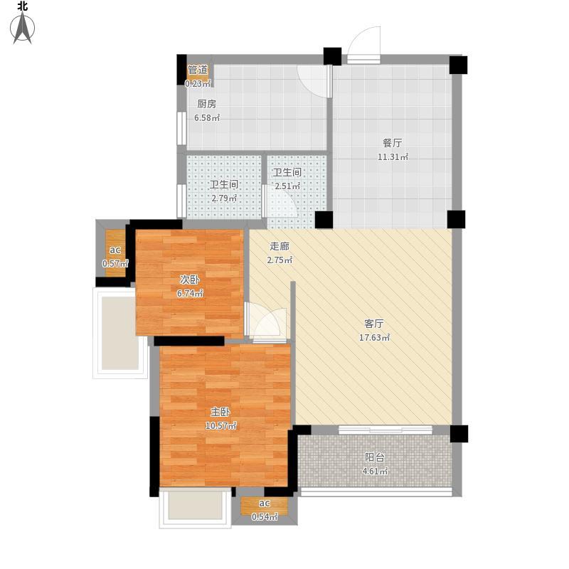 光谷麦郡户型图1号2号A-22室2厅89㎡