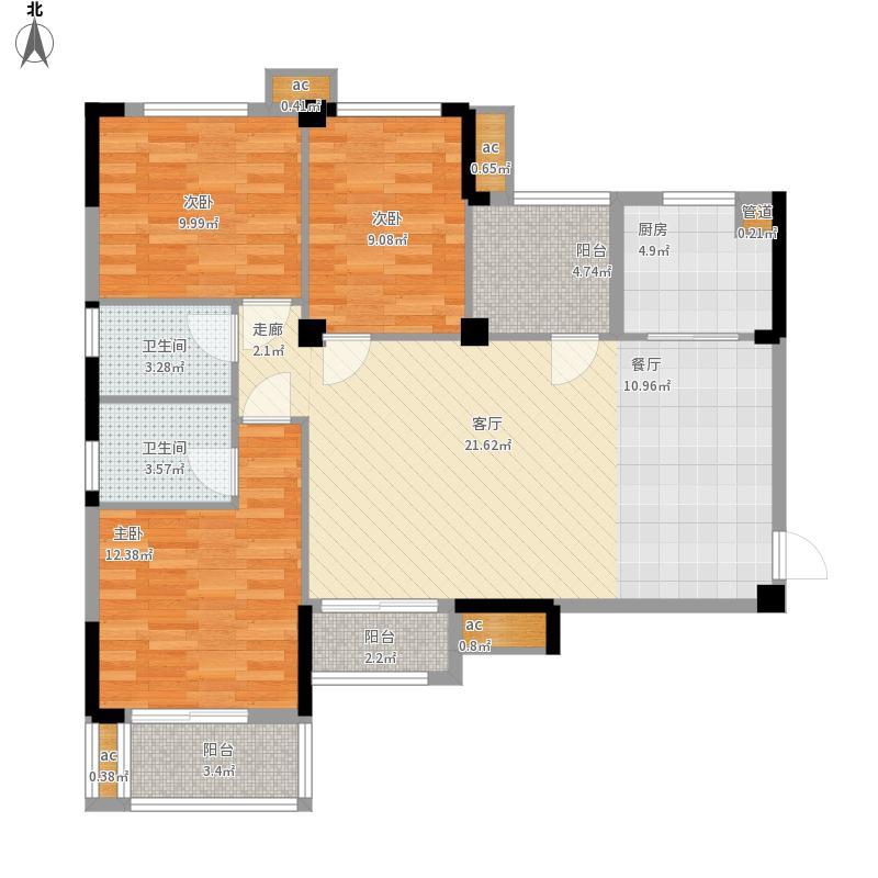 光谷麦郡户型图1号2号A-13室2厅118㎡