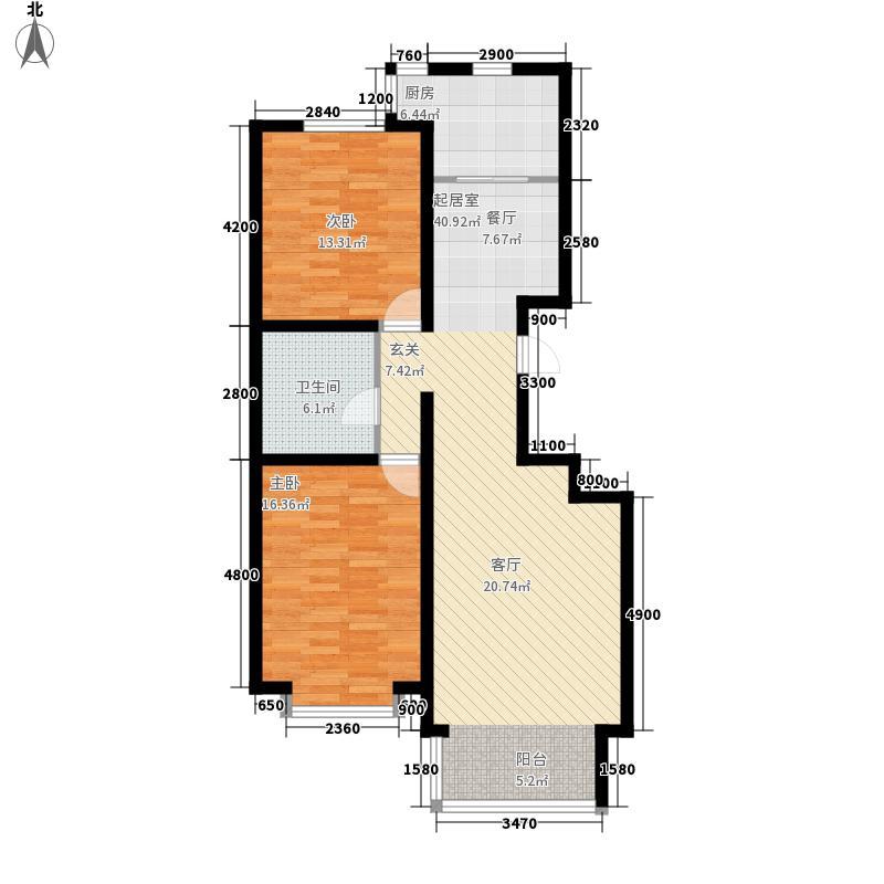 巨海城111.46㎡巨海城户型图十区D户型2室2厅1卫1厨户型2室2厅1卫1厨