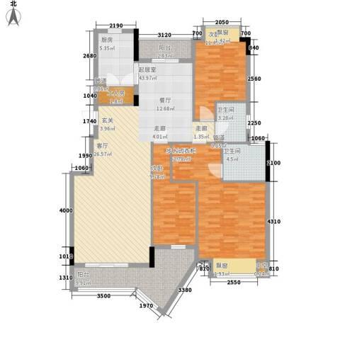 阳光澳园3室0厅2卫1厨133.00㎡户型图