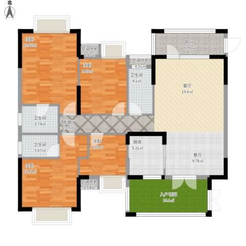 富盈四季华庭4室1厅3卫1厨162.00㎡户型图