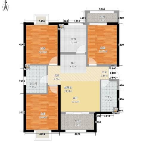 罗马西西里3室0厅2卫1厨125.00㎡户型图