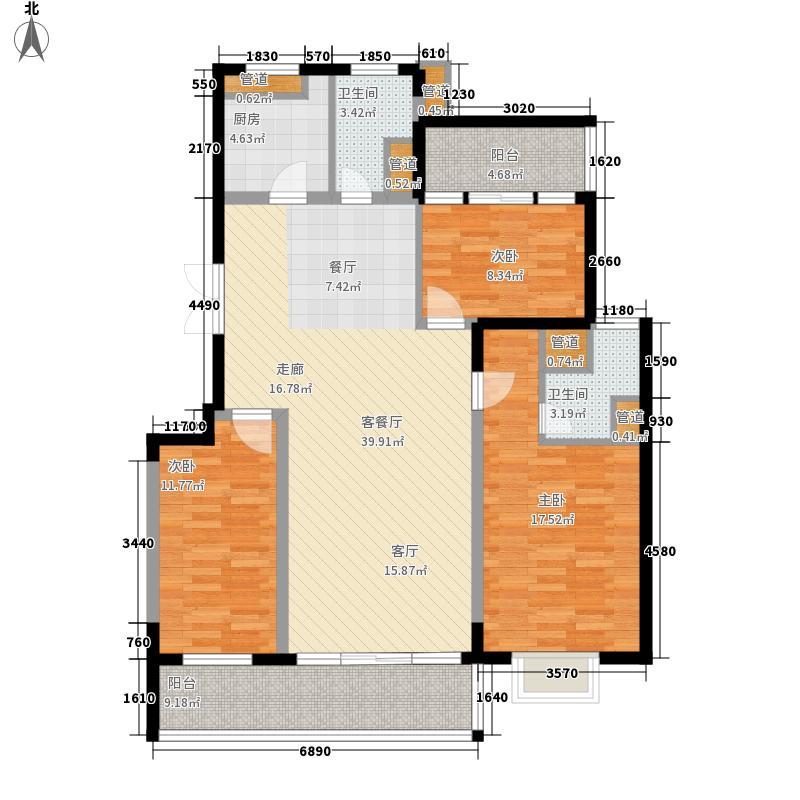 星城书院126.33㎡4栋C22面积12633m户型