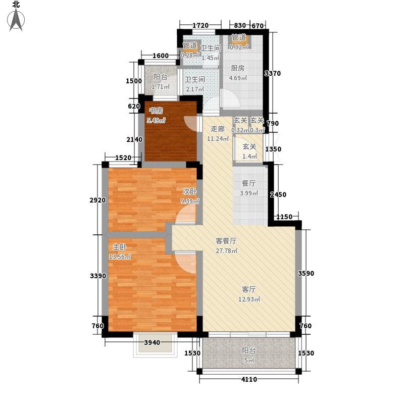 星城书院89.13㎡4栋C32面积8913m户型