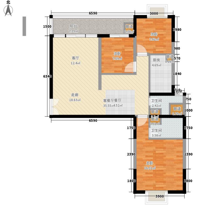 星城书院118.06㎡3栋B32面积11806m户型