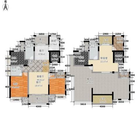 新浪琴湾2室1厅3卫1厨238.87㎡户型图