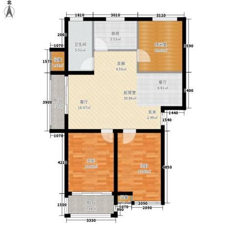 咸亨佳苑2室0厅1卫1厨114.00㎡户型图