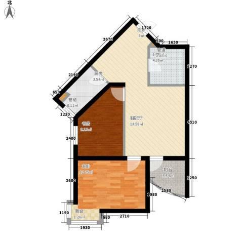新希望家园2室1厅1卫1厨85.00㎡户型图