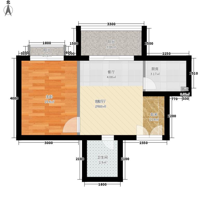 南山花园户型图福禄阁A户型 1室1厅1卫
