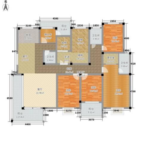 绿洲花园4室1厅3卫0厨194.00㎡户型图