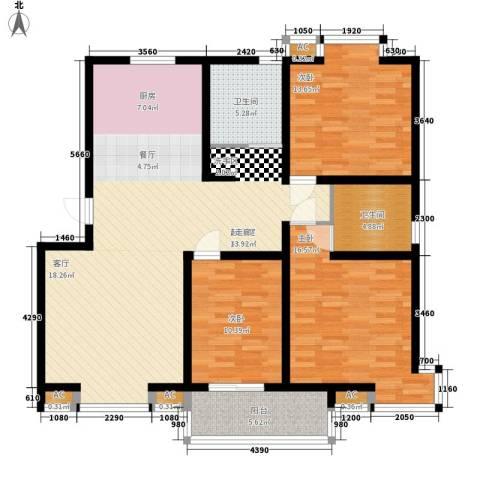 钻石华府3室0厅2卫0厨119.00㎡户型图