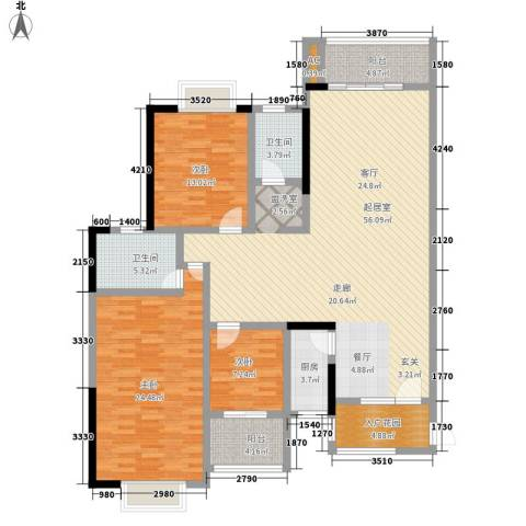 锦绣银湾3室0厅2卫1厨183.00㎡户型图