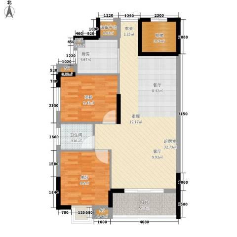 美寓明城2室0厅1卫1厨100.00㎡户型图