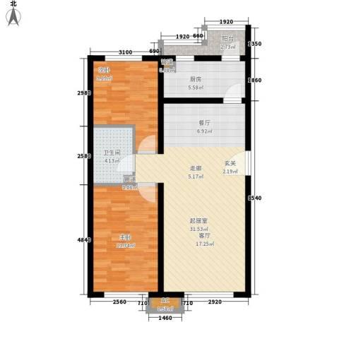 sala私人酒店2室0厅1卫1厨96.00㎡户型图