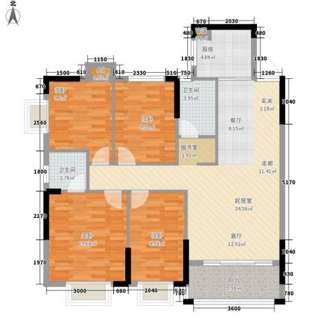 芙景佳园4室0厅2卫1厨134.00㎡户型图