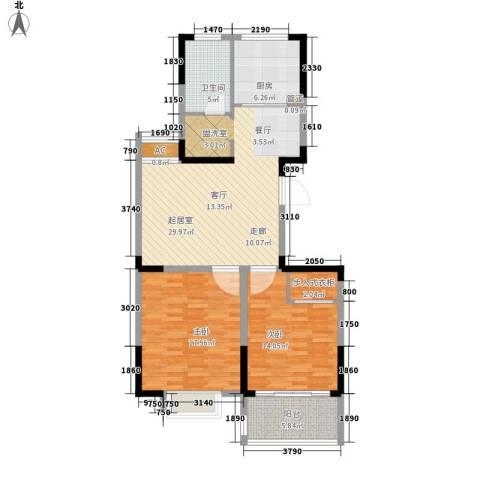 凤凰城2室0厅1卫1厨92.00㎡户型图