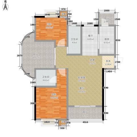 东亚马赛公馆2室0厅2卫1厨147.00㎡户型图