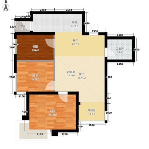 锦绣江南3室0厅1卫0厨96.00㎡户型图
