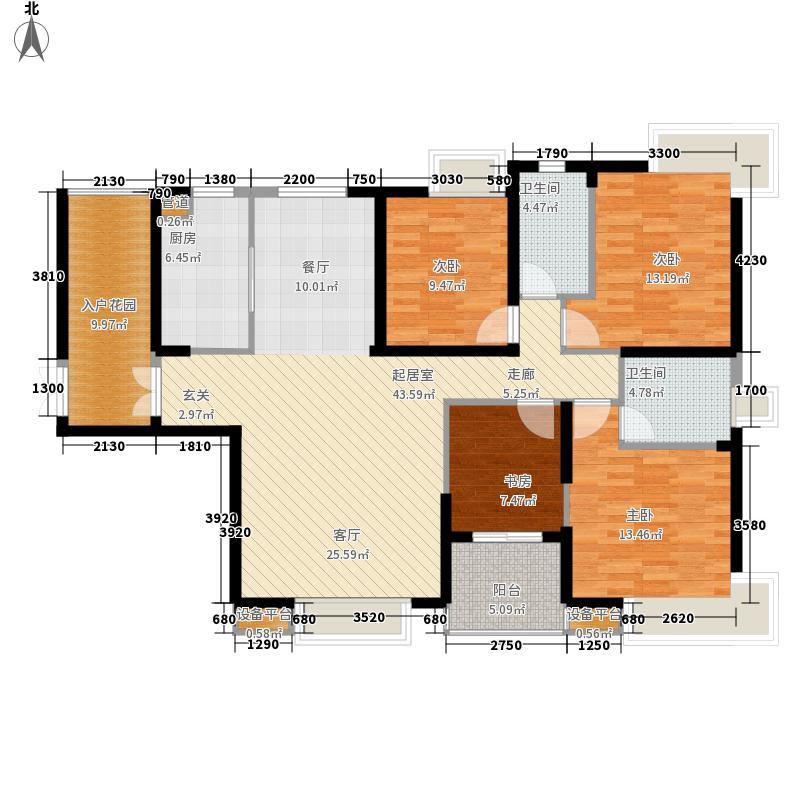 金地中心城157.57㎡西6E-1四期面积15757m户型