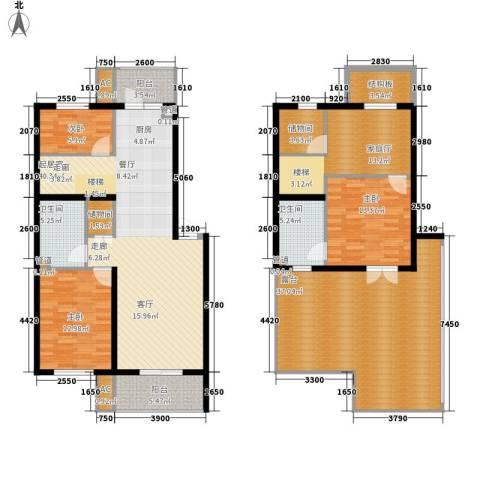 冶金设计院宿舍3室0厅2卫0厨214.00㎡户型图