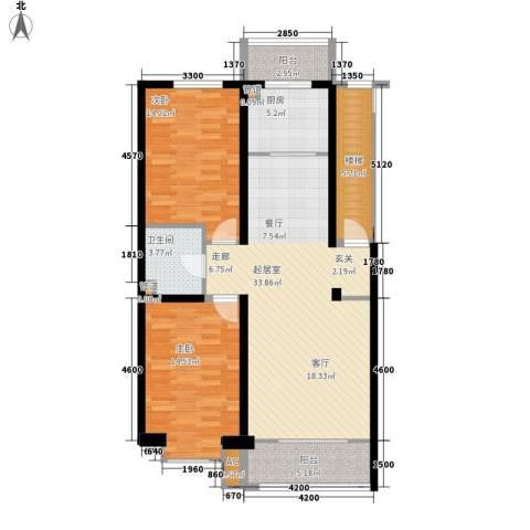 锦绣江南2室0厅1卫1厨101.00㎡户型图