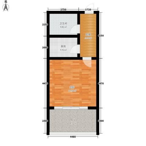 御墅林峰1室0厅1卫1厨49.00㎡户型图