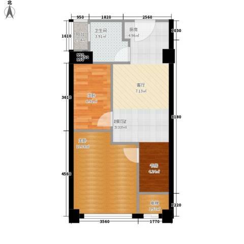 上城2室0厅1卫0厨55.00㎡户型图