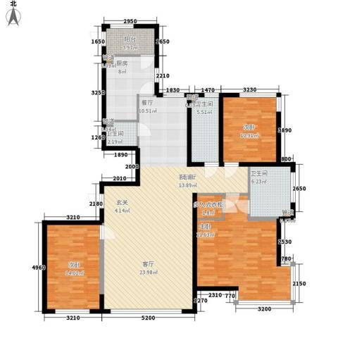 左岸慧晶3室1厅3卫1厨180.00㎡户型图