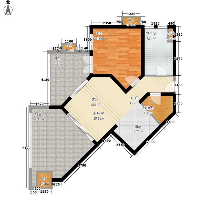 东和福湾100.43㎡东和福湾户型图公寓C1户型1室1厅1卫1厨户型1室1厅1卫1厨