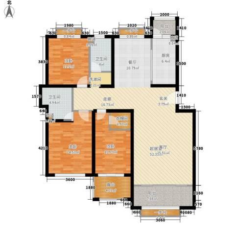 祥泰香榭花堤3室0厅2卫1厨140.84㎡户型图