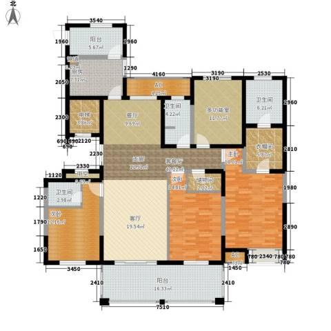 百乐广场3室1厅3卫1厨183.00㎡户型图