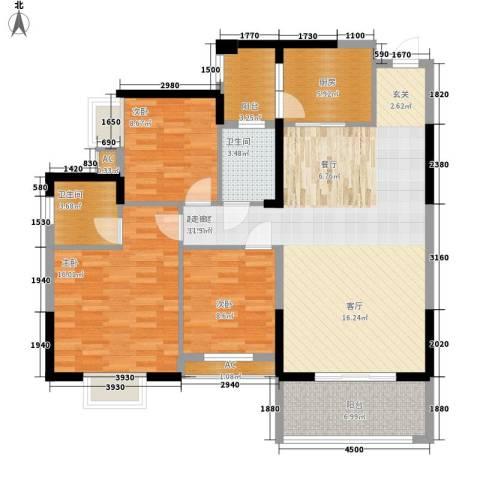 钱隆樽品二期3室0厅2卫1厨121.00㎡户型图