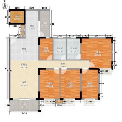金沙湾花园5室0厅2卫0厨161.00㎡户型图