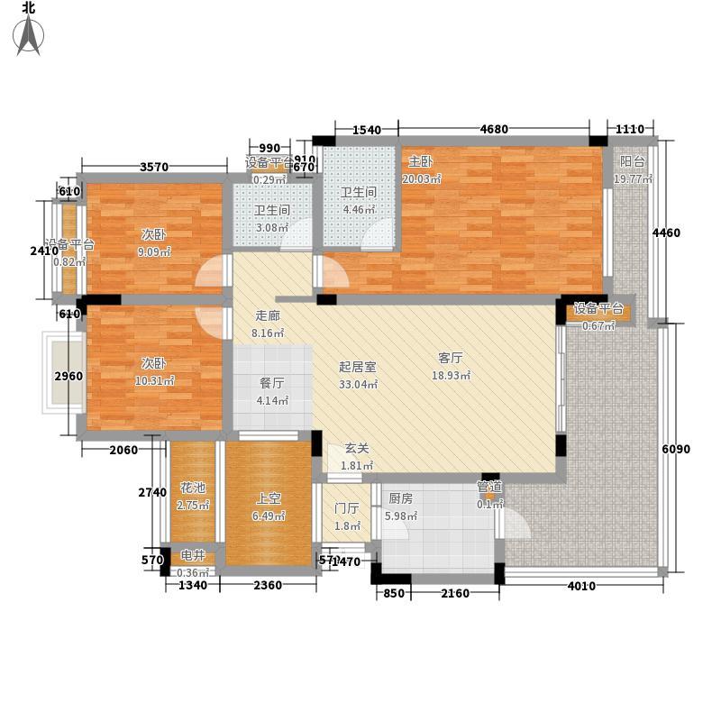 融汇江山融汇半岛香缇漫山8号楼3层户型3室2厅