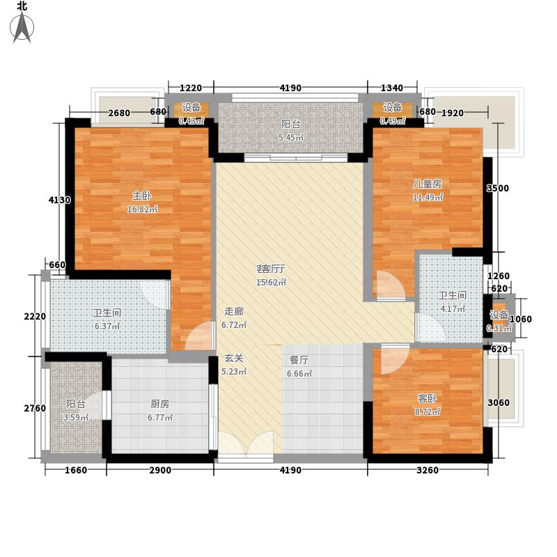 博岗大厦112.00㎡博岗大厦112.00㎡3室户型3室