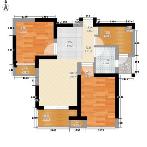 三香弄小区2室0厅1卫1厨48.00㎡户型图